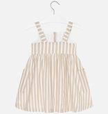 Mayoral Mayoral Striped Linen Dress