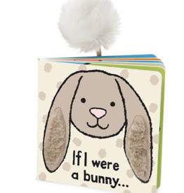 JellyCat Jelly Cat If I Were a Bunny Book Beige