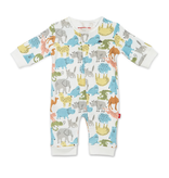 Magnificent Baby Magnificent Baby Zoo Crew Organic Cotton Coverall