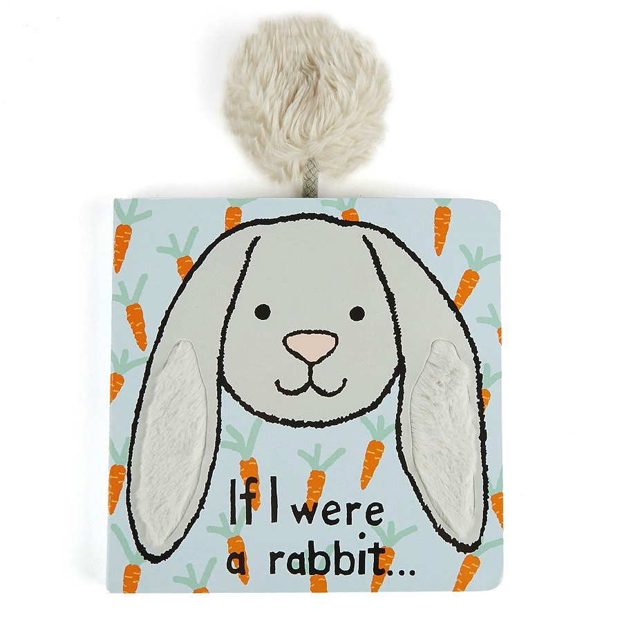 JellyCat Jelly Cat If I Were a Grey Rabbit Book