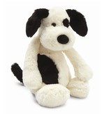 JellyCat Jelly Cat Bashful Black and Cream Medium Puppy