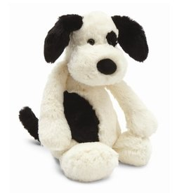 JellyCat Jelly Cat Bashful Black and Cream Medium Puppy