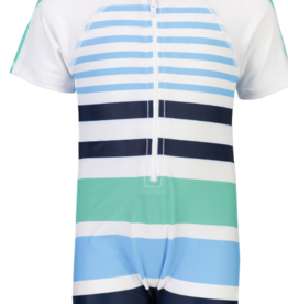 Snapper Rock Snapper Rock Compass Stripes Short Sleeve Sunsuit UV50+