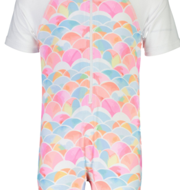 Snapper Rock Snapper Rock Rainbow Short Sleeve Sunsuit UV50+