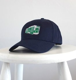 Sidetrack Sidetrack Navy Green Line Baseball Hat