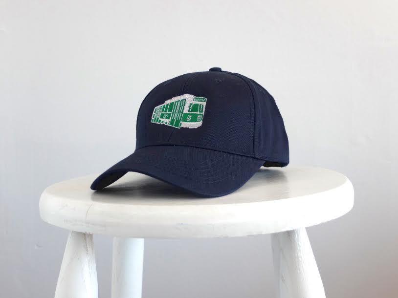 Sidetrack Sidetrack Navy Green Line Baseball Hat