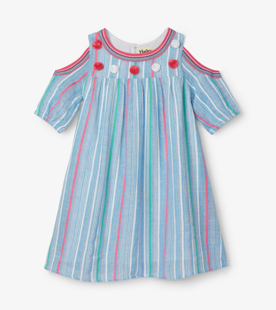 Hatley Hatley Striped Cold Shoulder Dress
