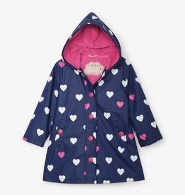 Hatley Hatley Striped Hearts Color Changing Rain Jacket