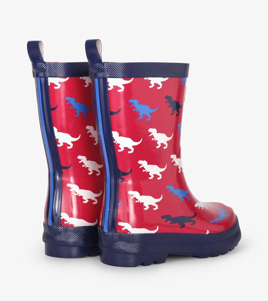 Hatley Hatley T-Rex Silhouettes Shiny Rainboots