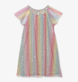 Hatley Hatley Metallic Hearts Rainbow Tulle Dress