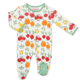 Magnificent Baby Magnificent Baby Perfect Puns Organic Cotton Footie