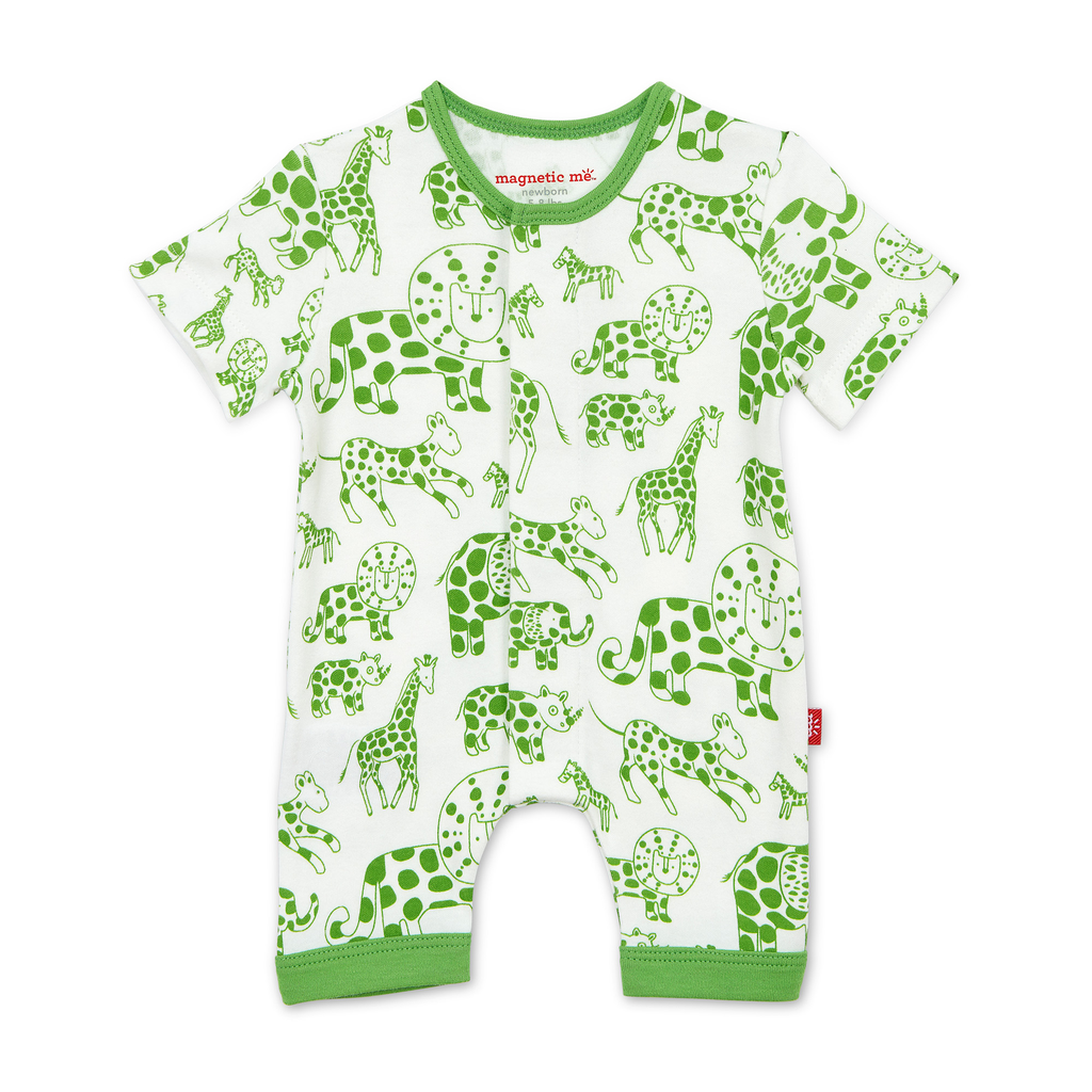 Magnificent Baby Magnificent Baby Avant Gardimal Organic Cotton Romper