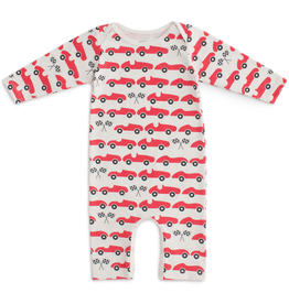 Winter Water Factory Winter Water Factory Race Cars Long Sleeve Romper
