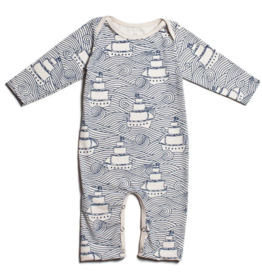 Winter Water Factory Winter Water Factory High Seas Long Sleeve Romper