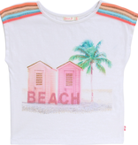 Billieblush Billieblush Beach House Tee with Trim on Shoulders