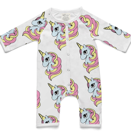 Soft Baby Soft Baby Organic Cotton Unicorn Long Romper