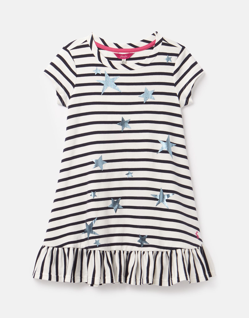 Joules Joules Allie Luxe Striped Star Dress