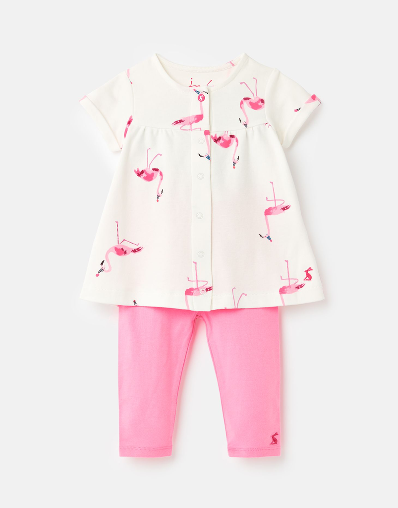 Joules Joules Perrie Flamingo Tunic and Legging Set