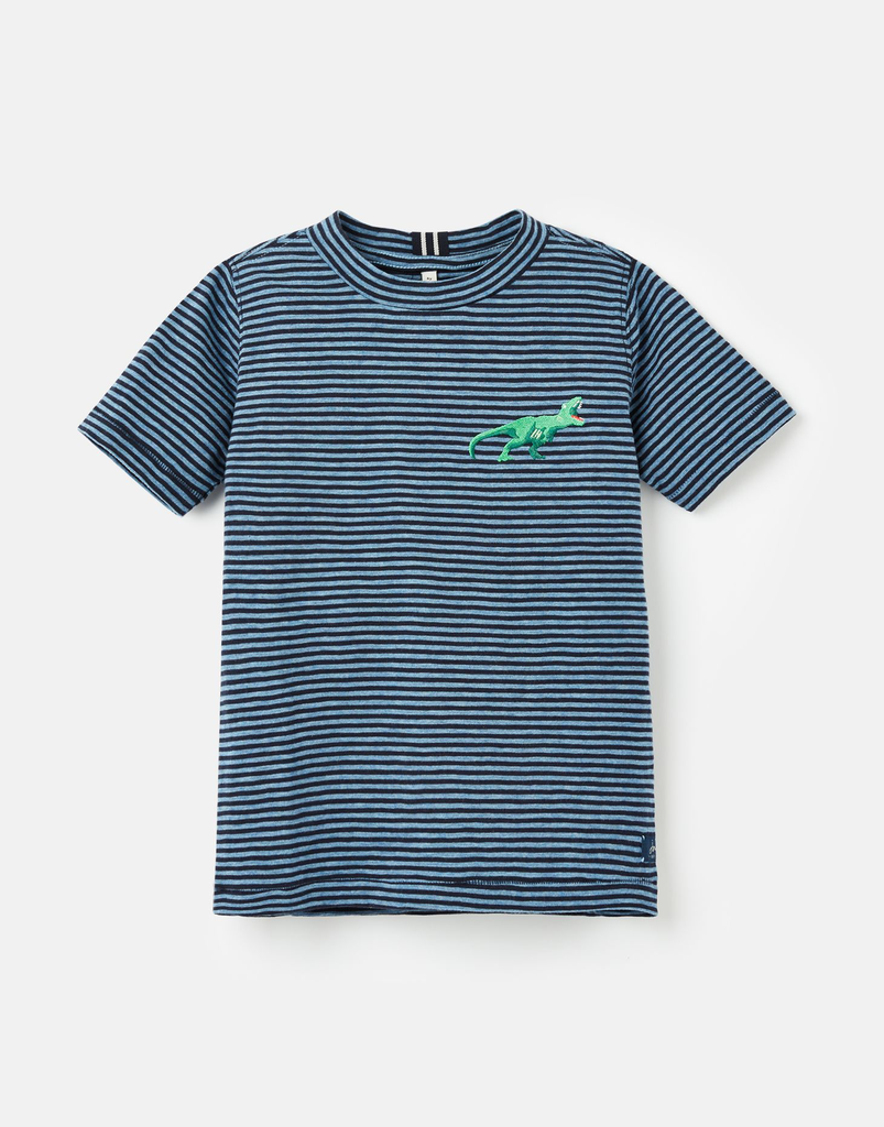 Joules Joules Island Striped Dino Shirt