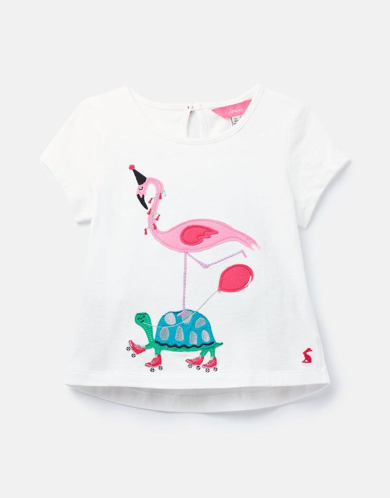 Joules Joules Maggie Tortoise and Flamingo Top