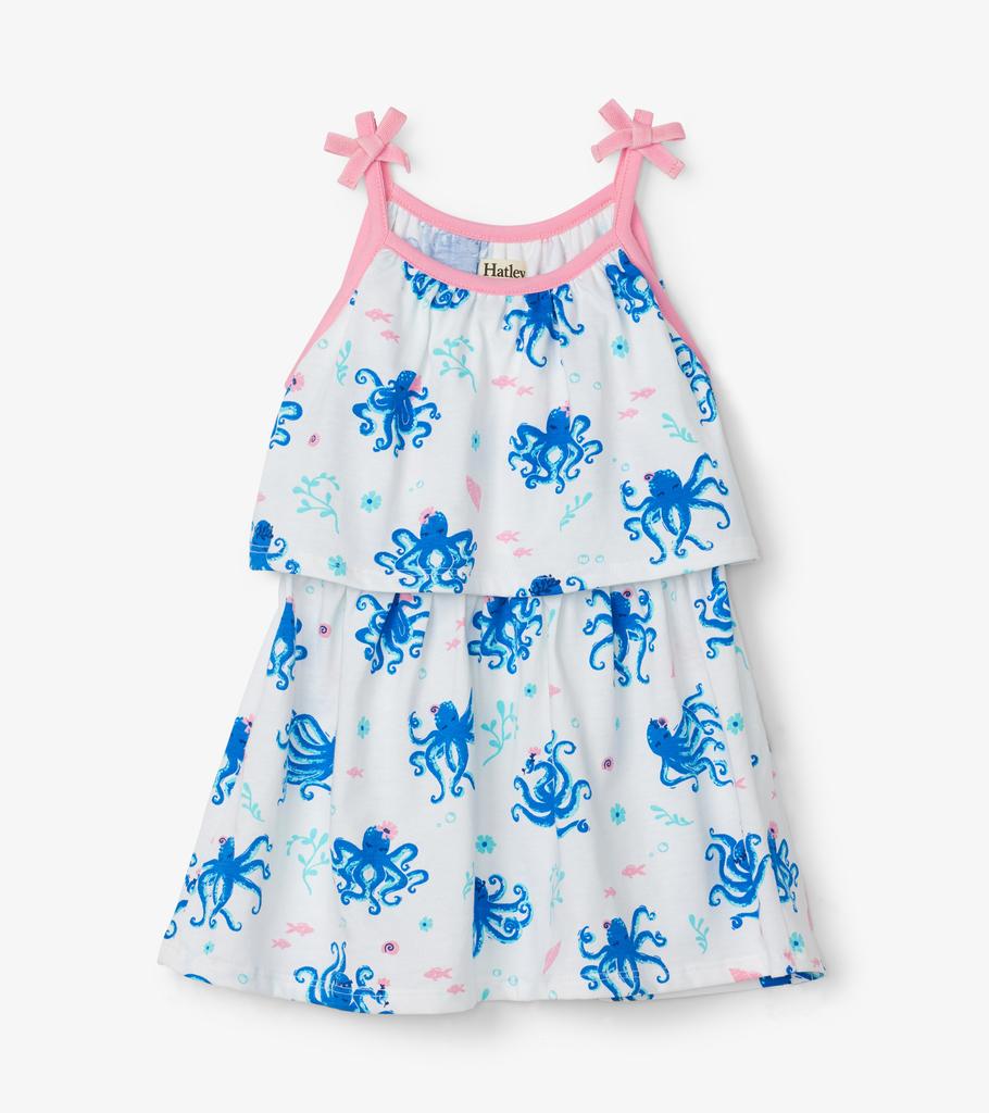 Hatley Hatley Pretty Octopus Layered Dress
