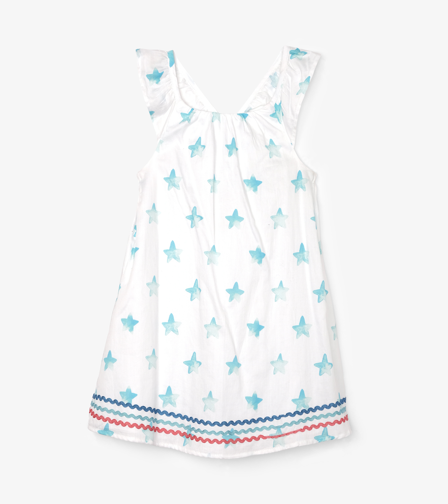 Hatley Hatley Painted Stars Bow Back Dress