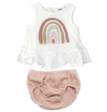Oh Baby Oh Baby Dolly Rainbow Ruffle Set