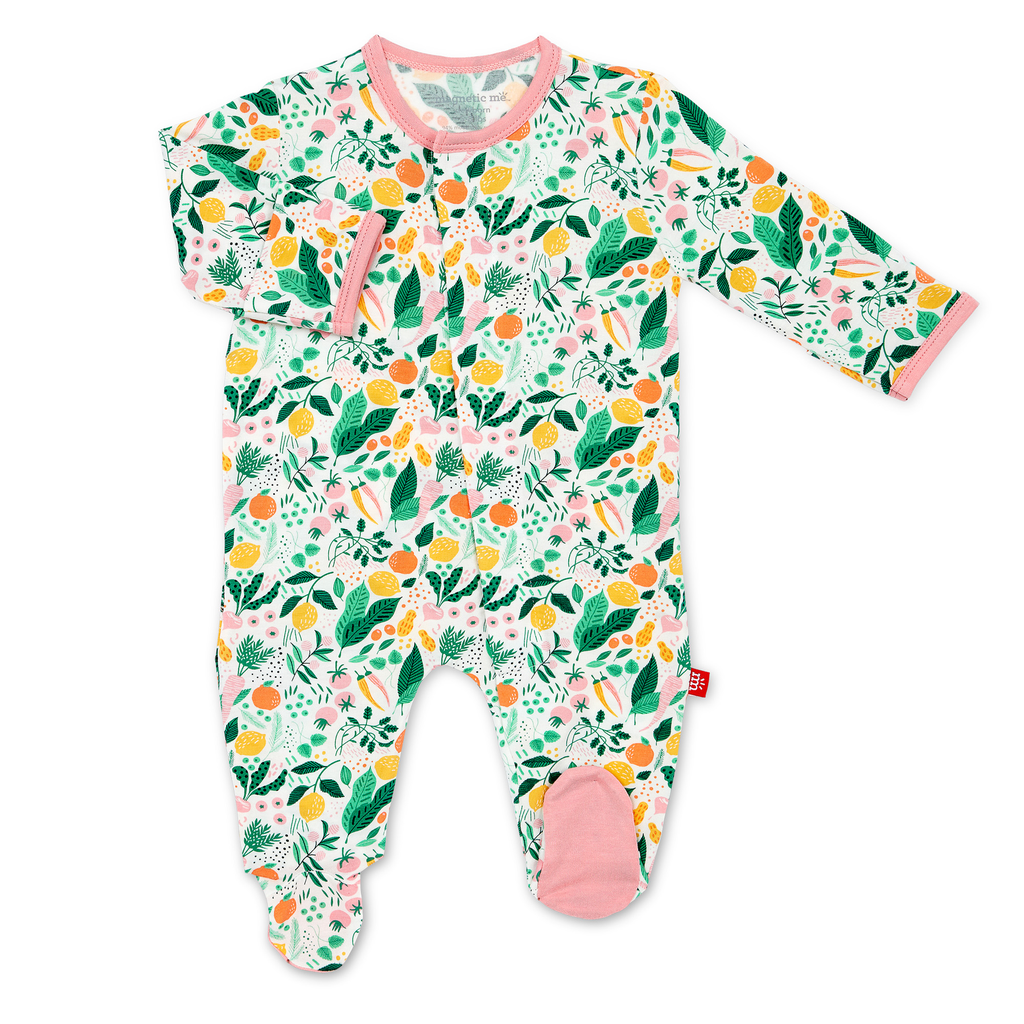 Magnificent Baby Magnificent Baby Lemon Verbena Modal Magnetic Footie