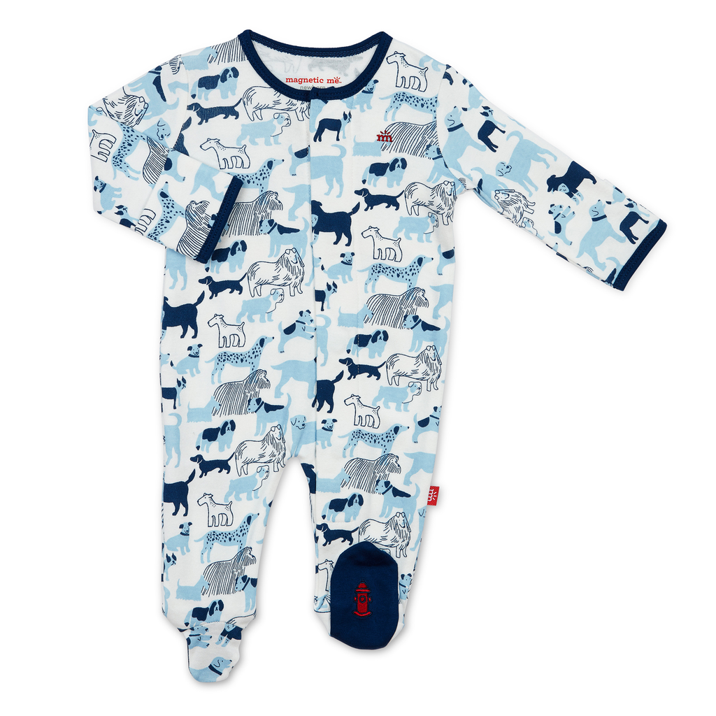 Magnificent Baby Magnificent Baby Best In Show Organic Cotton Magnetic Footie
