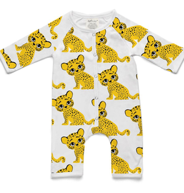 Soft Baby Soft Baby Organic Cotton Tiger Long Romper