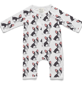 Soft Baby Soft Baby Organic Cotton Baby Pug Long Romper