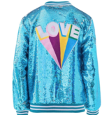 Lola & the Boys Lola & the Boys Love Sequin Flip Bomber