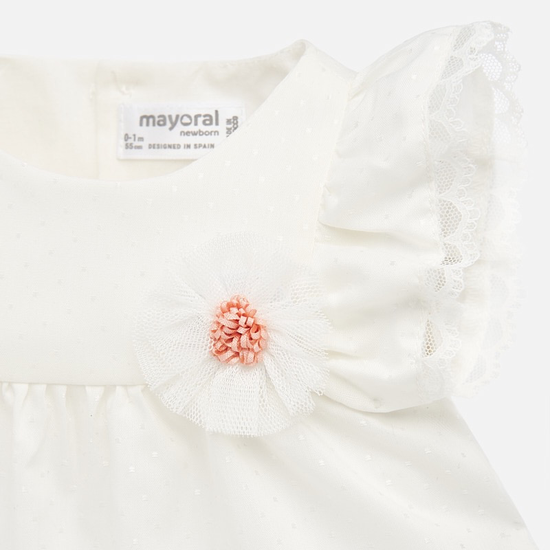 Mayoral Mayoral Baby Blouse and Diaper Cover Set