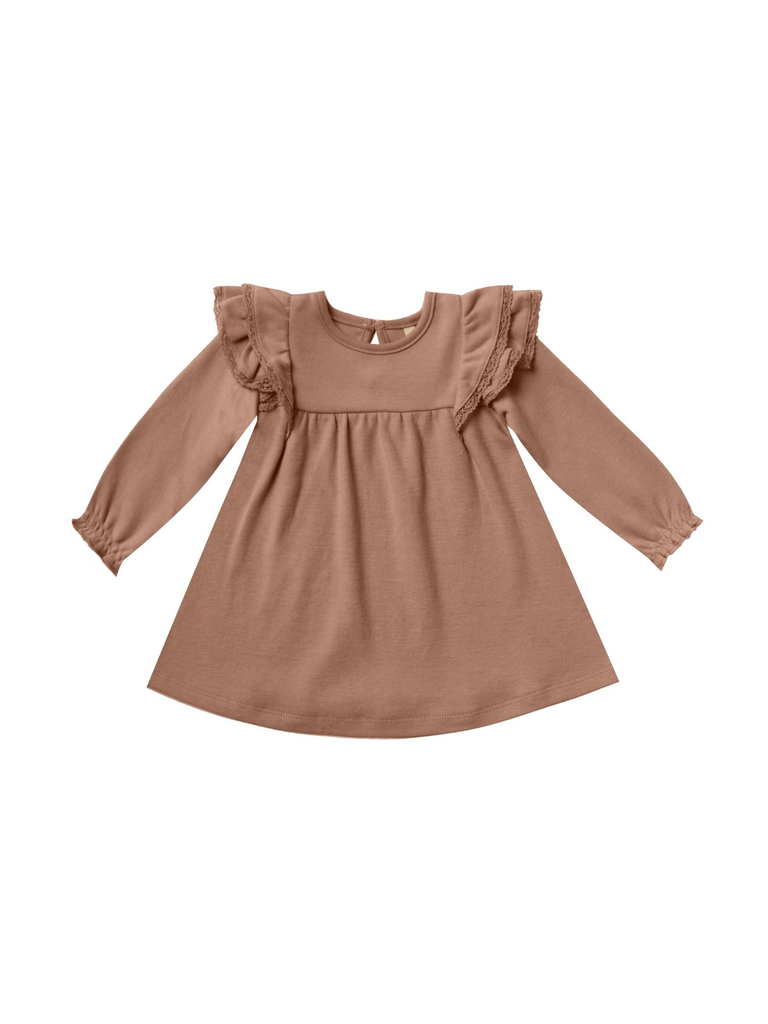Quincy Mae Quincy Mae Longsleeve Flutter Dress