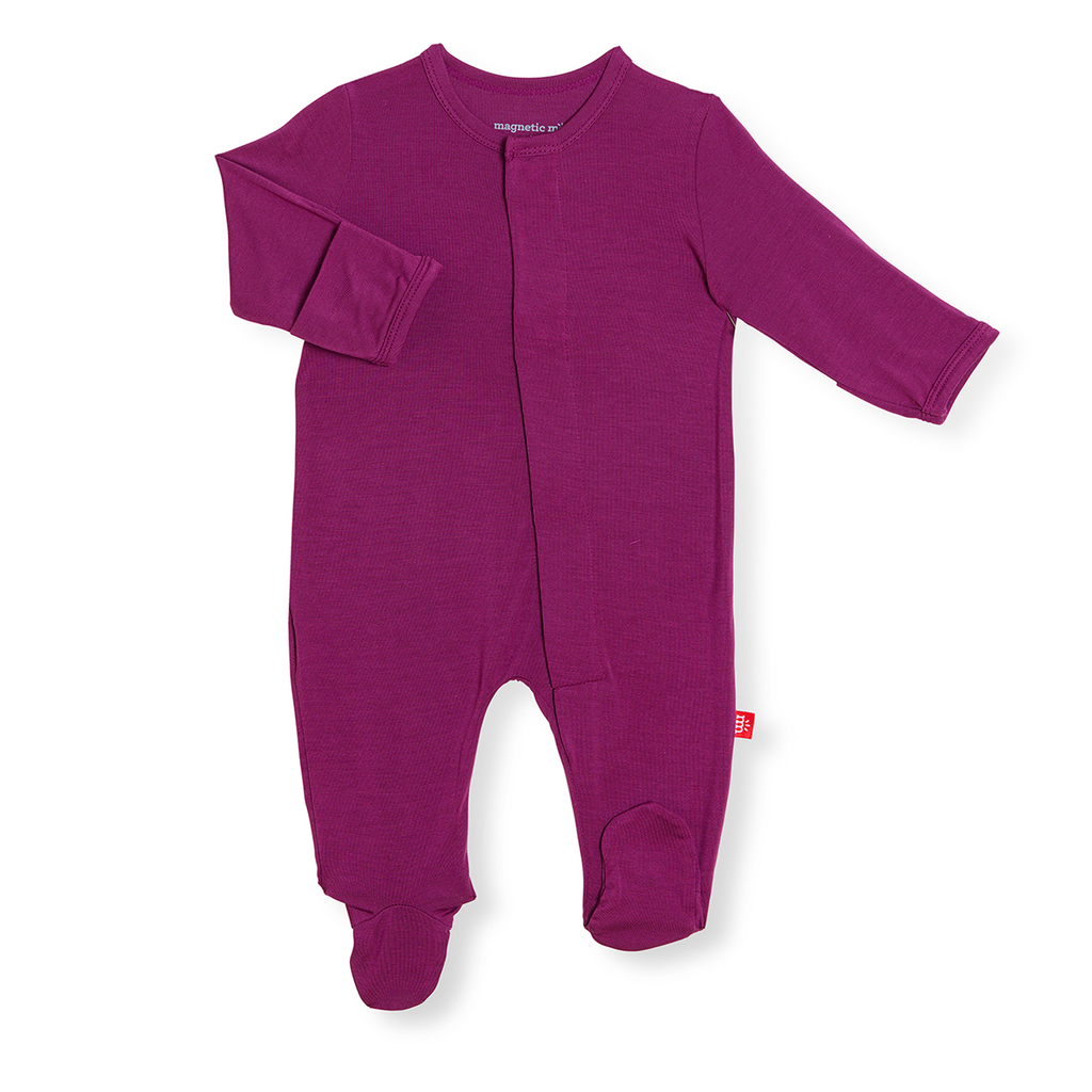 Magnificent Baby Magnificent Baby Silky Soft Solid Modal Footie