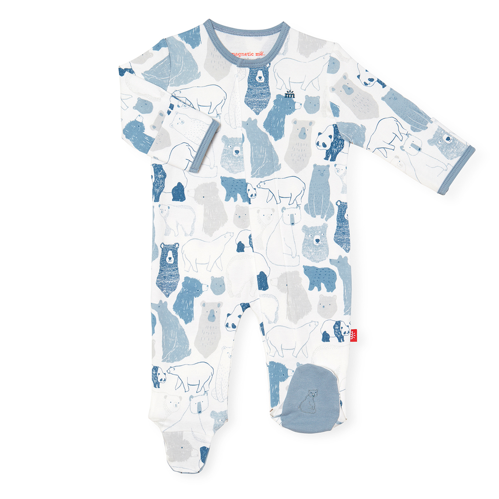 Magnificent Baby Magnificent Baby Unbearably Cute Organic Cotton Footie