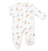 Magnificent Baby Magnificent Baby My Year of Firsts Organic Cotton Footie