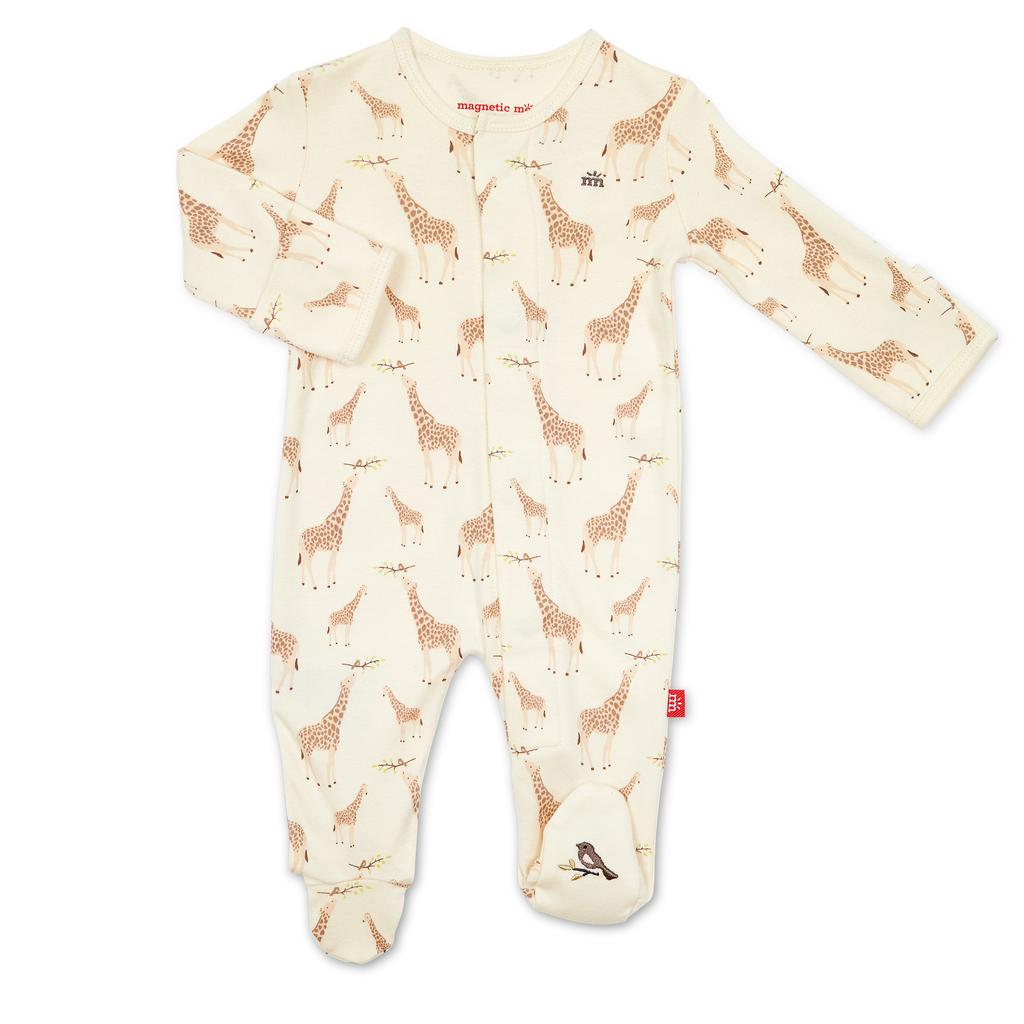 Magnificent Baby Magnificent Baby Jolie Giraffe Organic Cotton Footie