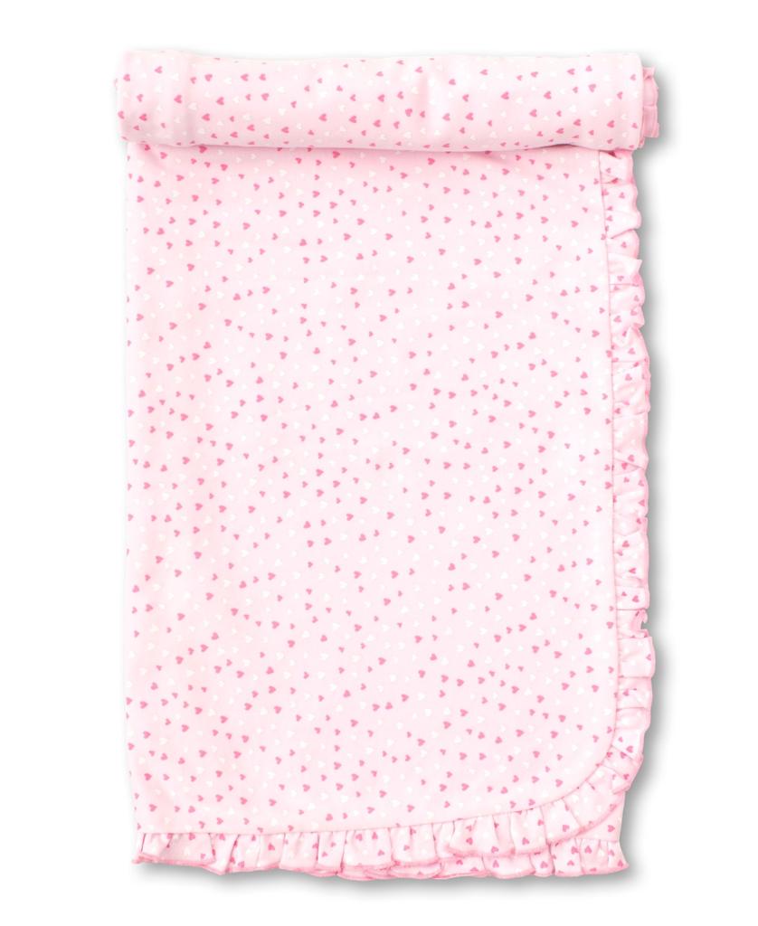 kissy kissy Kissy Kissy Heart & Ruffle Print Blanket