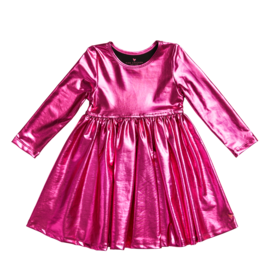 Pink Chicken Pink Chicken Liza Lame Metallic Dress