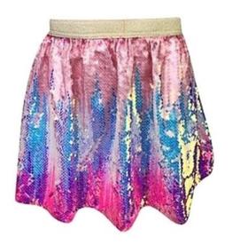 Lola & the Boys Lola & the Boys Bubble Gum Ombre Sequin Skirt