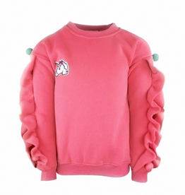 Lola & the Boys Lola & the Boys Unicorn Ruffle Sweatshirt