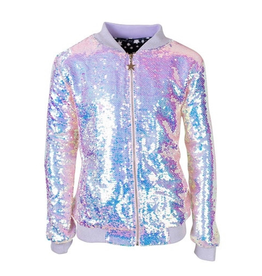 Lola & the Boys Lola & the Boys Cotton Candy Sequin Bomber