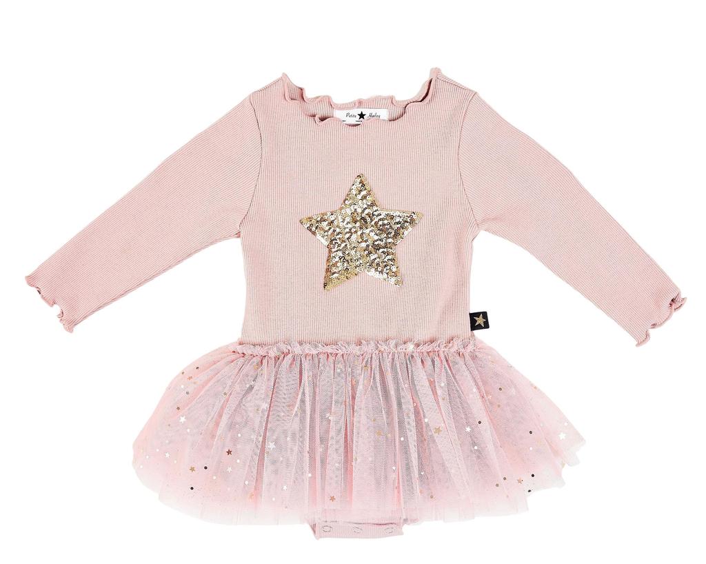 Petite Hailey Petite Hailey Pink Star Tutu Onesie