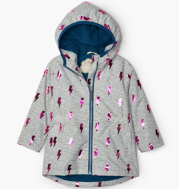 Hatley Hatley Glitzy Pink Bolts Microfiber Rain Jacket