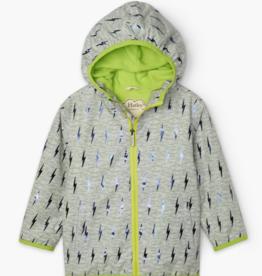 Hatley Hatley Green Lightning Bolts Microfiber Rain Jacket