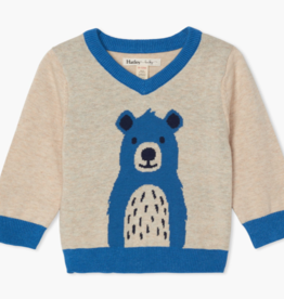 Hatley Hatley Cheerful Bear V-Neck Sweater