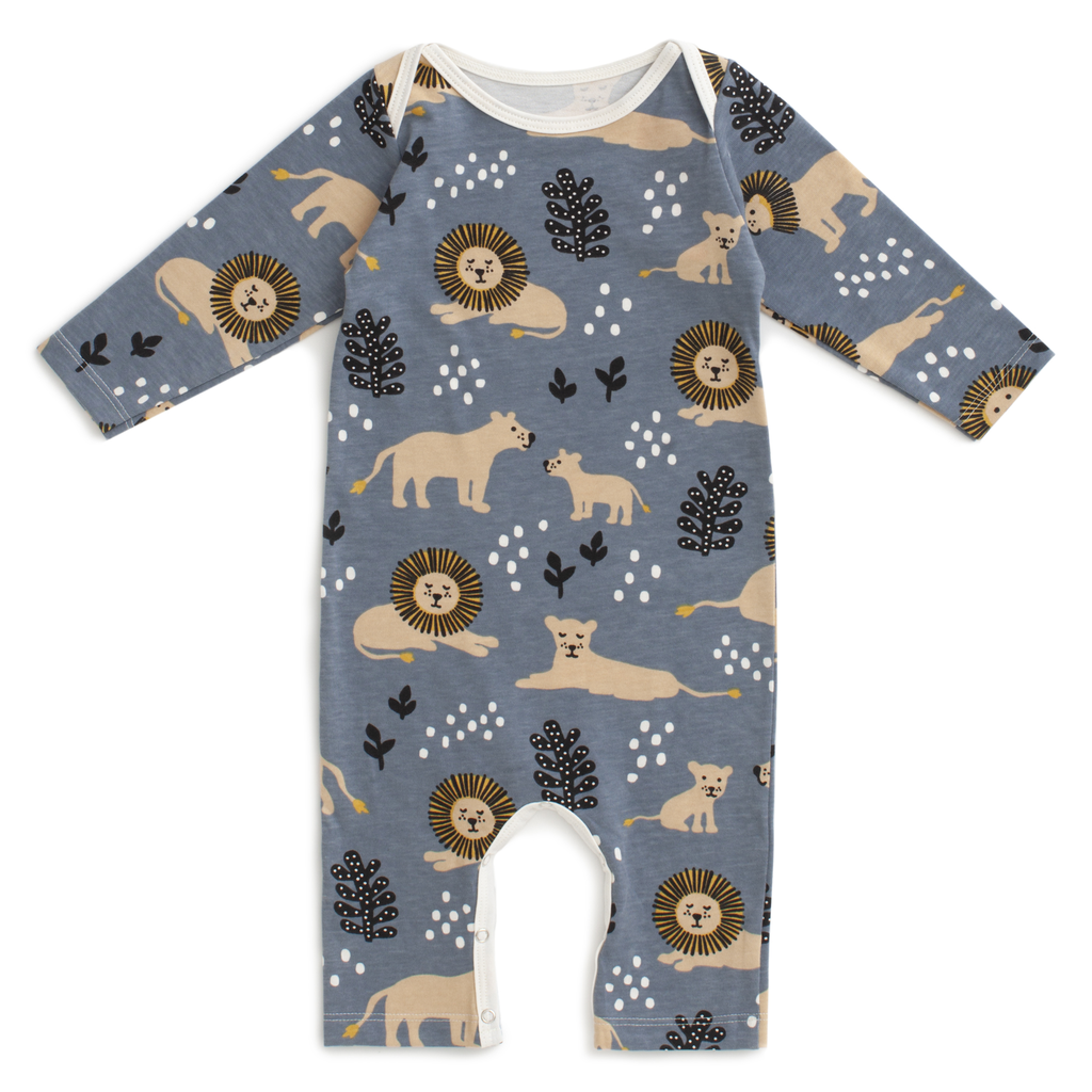 Winter Water Factory Winter Water Factory Lions Long Sleeve Romper
