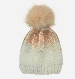The Blueberry Hill The Blueberry Hill Pearl Metallic Hat with Fur Pom