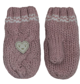 Cali Kids Knit Heart Winter Mitten